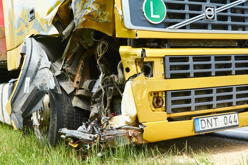 Accident On A Highway In June, 2019 In Riga, Latvia, Car