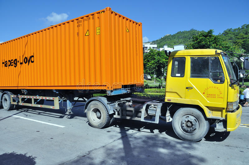 Download Truck with container editorial photography. Image of transportation - 20815987