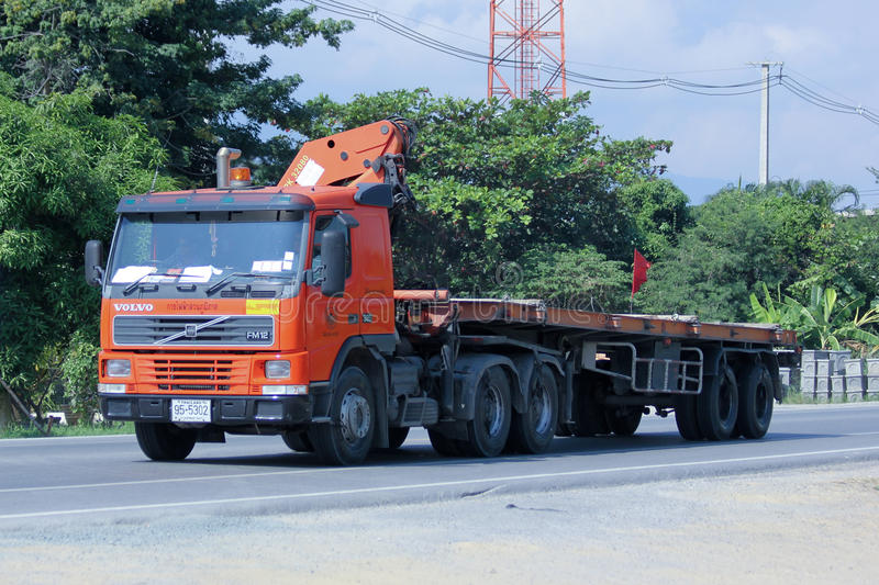 Truck with crane of Provincial eletricity Authority of Thailand. royalty free stock photo