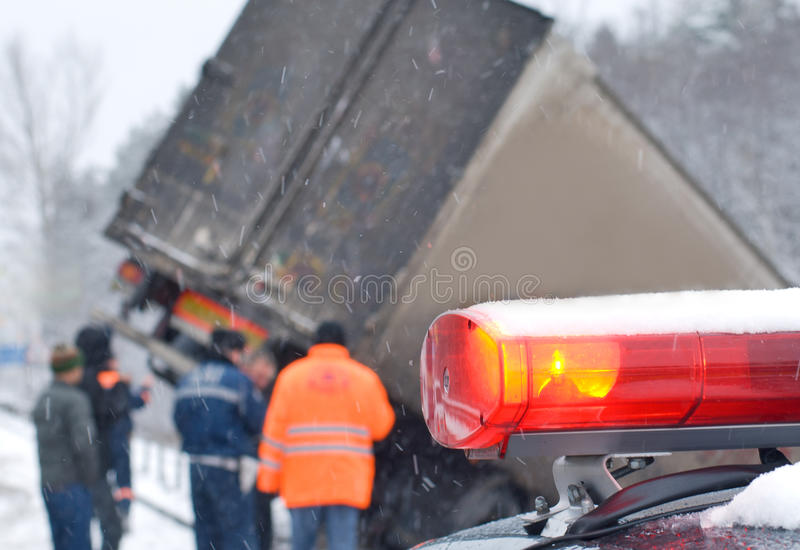 Truck crash stock images