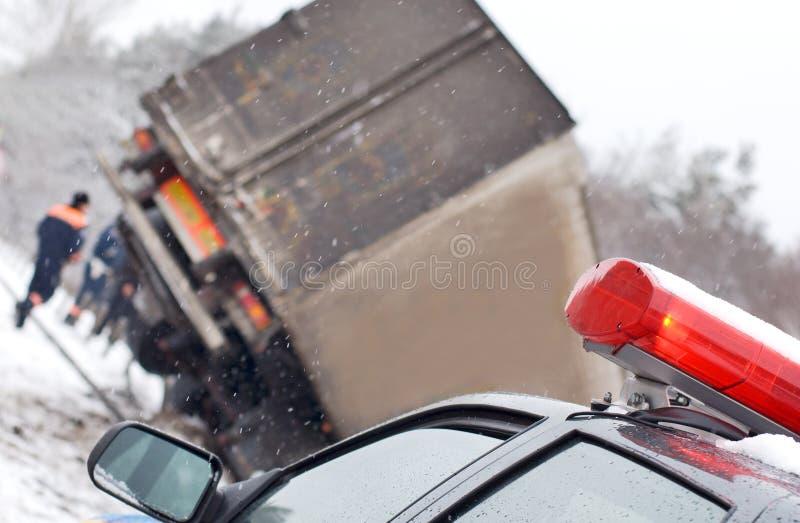 Truck crash stock image