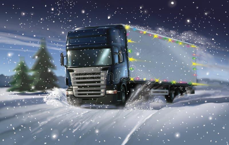 truck cristmas ελεύθερη απεικόνιση δικαιώματος