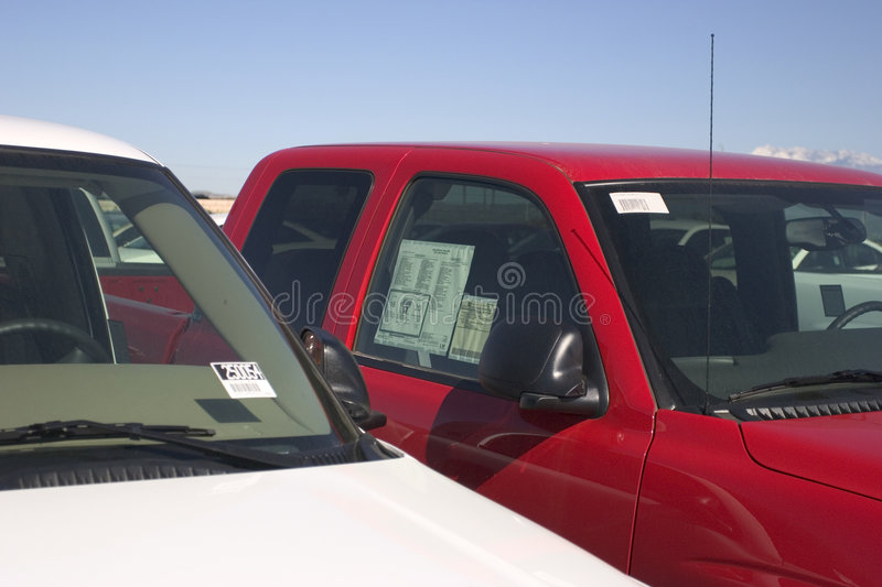 Truck Dealership royalty free stock photography