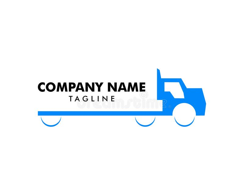 Truck Delivery Cargo Logo Design Vector Template royalty free illustration