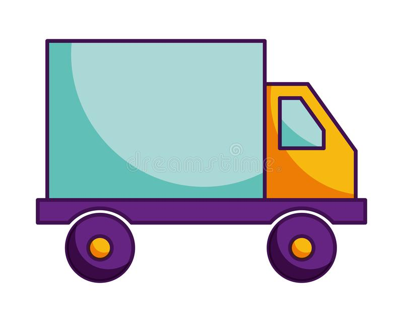 Truck delivery transport isolated image vector illustration
