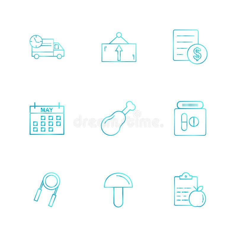 truck , dollar , celender , mushroom , truck , board , bill , do vector illustration