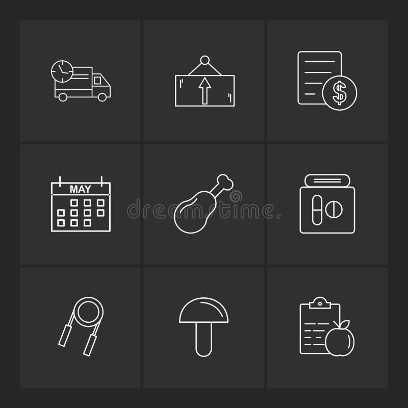 truck , dollar , celender , mushroom , truck , board , bill , do royalty free illustration