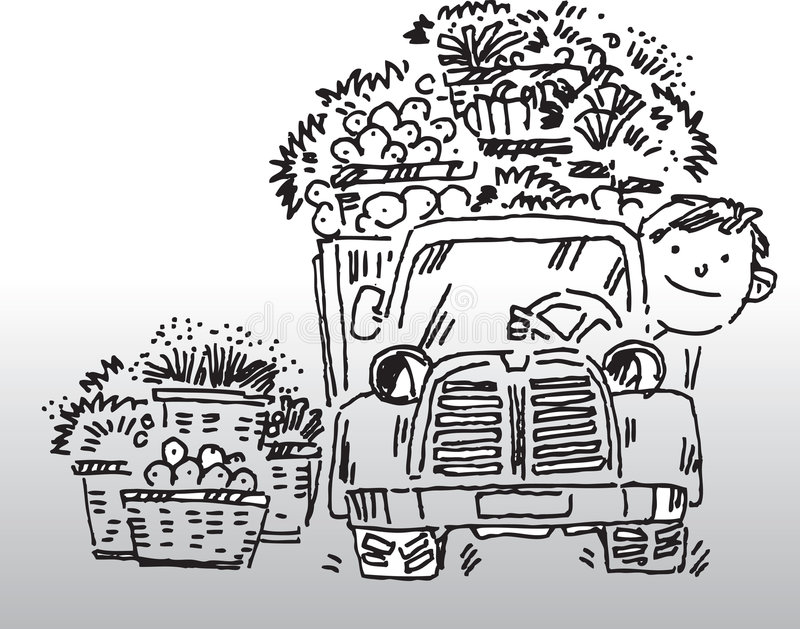 Truck driver stock illustration