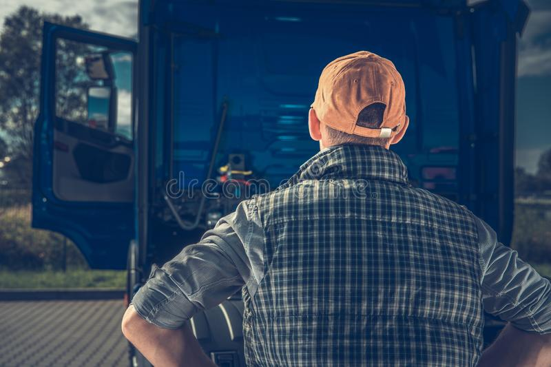 Truck Driver Getting Job stock photography