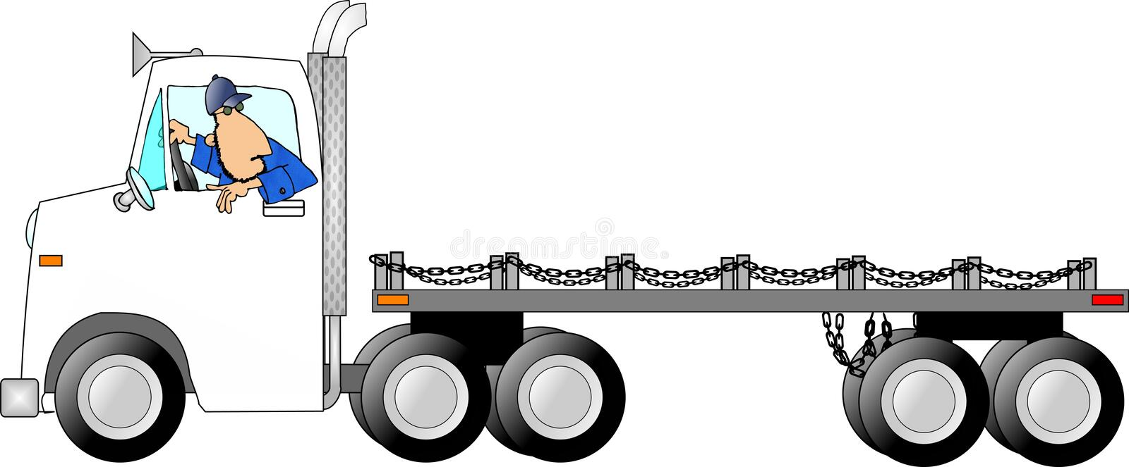 Truck drivin man vector illustration