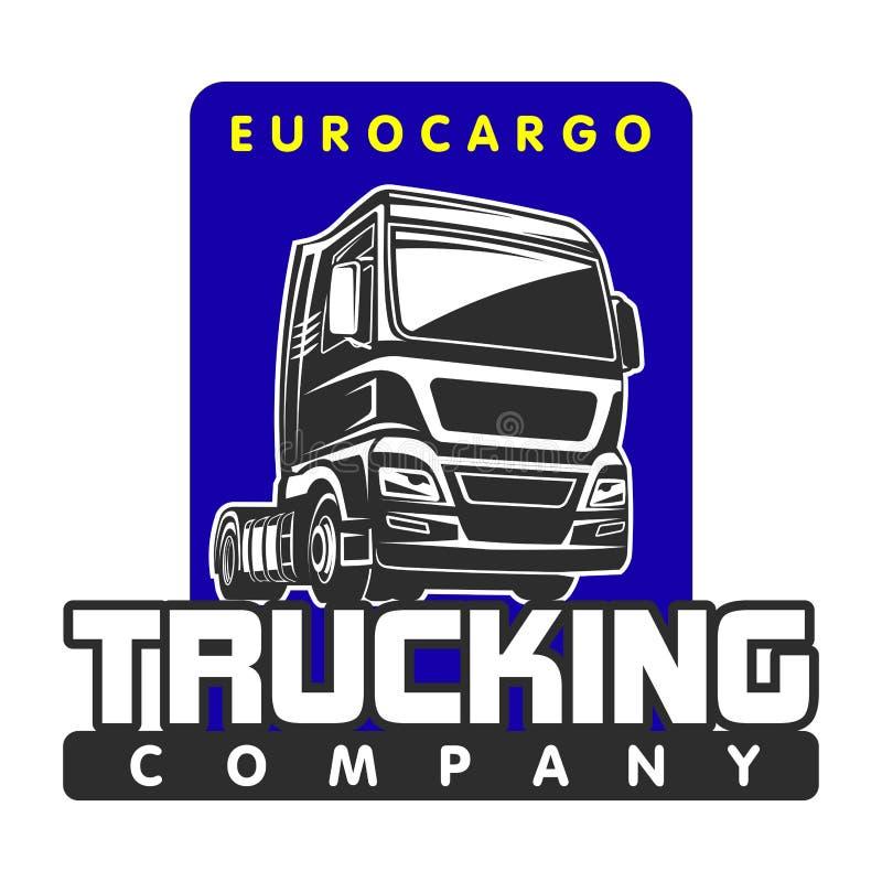 Truck euro cargo freight logo template stock illustration