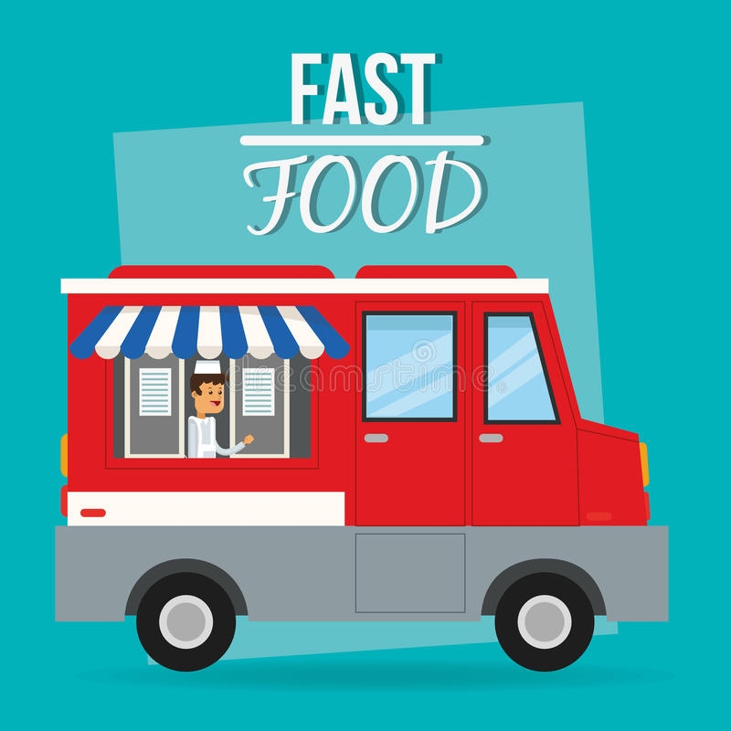 Truck and fast food design. Truck and delivery icon. fast food menu american and restaurant theme. Colorful design. Vector illustration vector illustration
