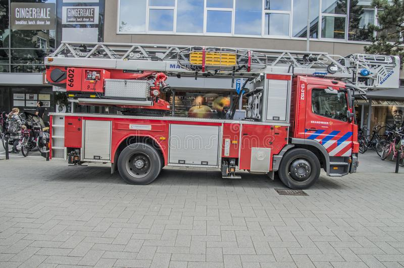 A Truck From The Fire Department Of Amsterdam The Netherlands stock images