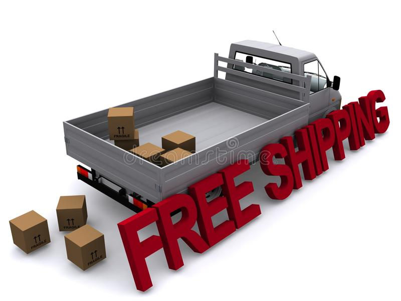 Truck Free Shipping Stock Images