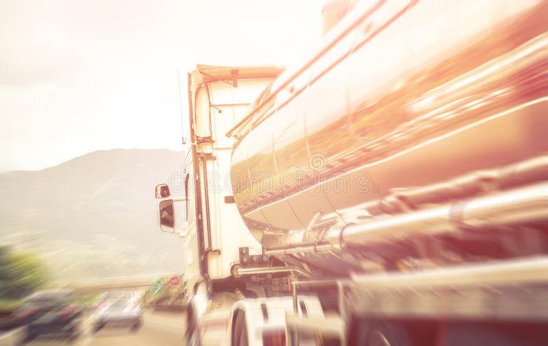 Truck on the freeway. royalty free stock images