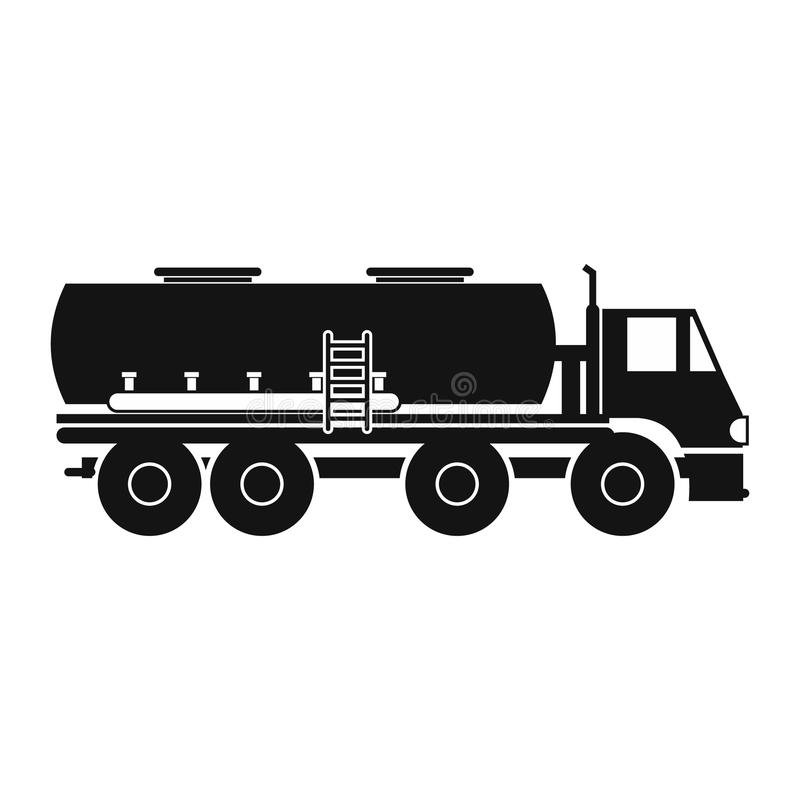 truck with fuel tank icon stock vector. illustration of shell - 79755517