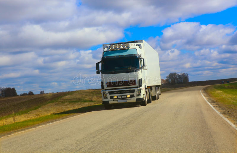 Download Truck goes on the highway stock photo. Image of fast - 41352132