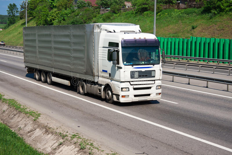 Download Truck On Highway Royalty Free Stock Image - Image: 36984016
