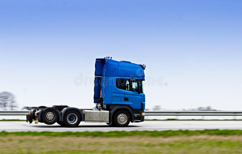 Truck on highway stock photo