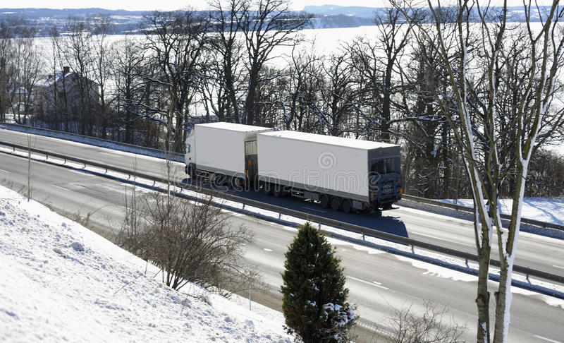 Download Truck, Highway And Snow Royalty Free Stock Photography - Image: 17885607