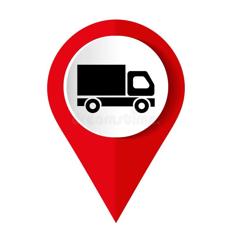 Free Truck Icon On Square Internet Button Stock Photo - 166070980