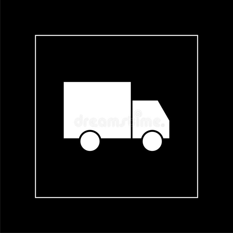 Truck icon or sign on dark background stock photos