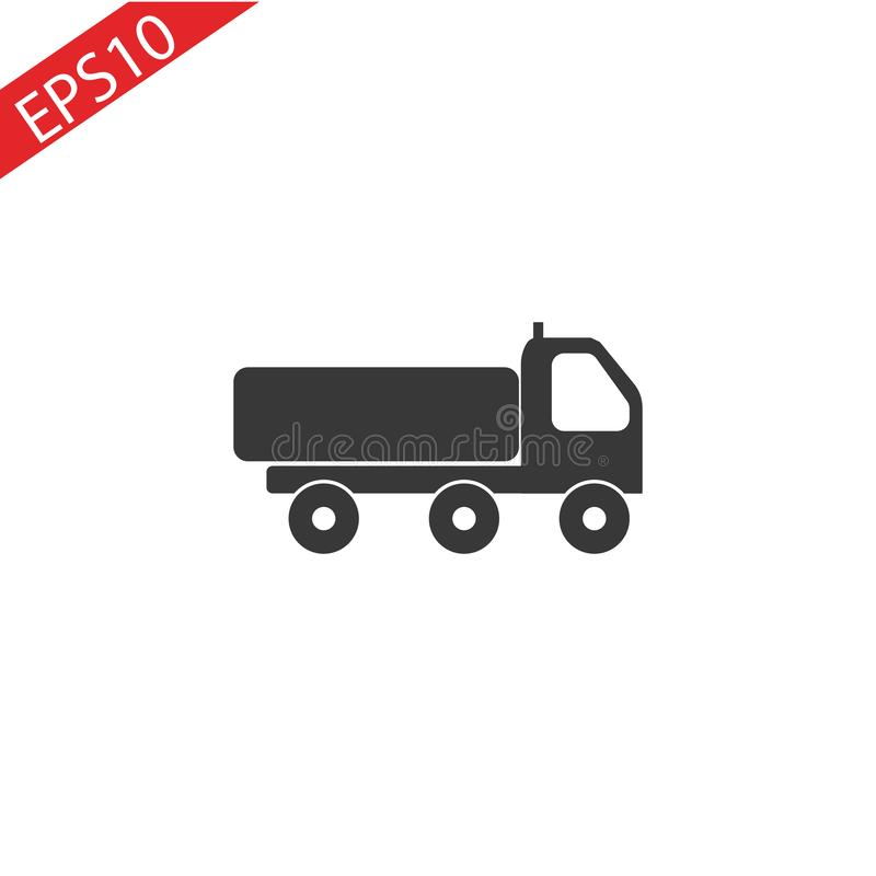 Truck icon on white backgroun.. Truck icon on white backgroun. eps 10 vector illustration