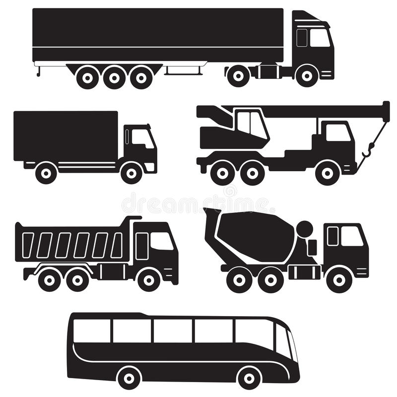 Truck Icons Set. Vector Collection Of Vehicles. Stock ...