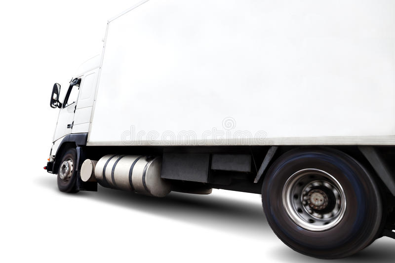 Truck isolated on white. Truck isolated over white background .Transport of commodity royalty free stock photography