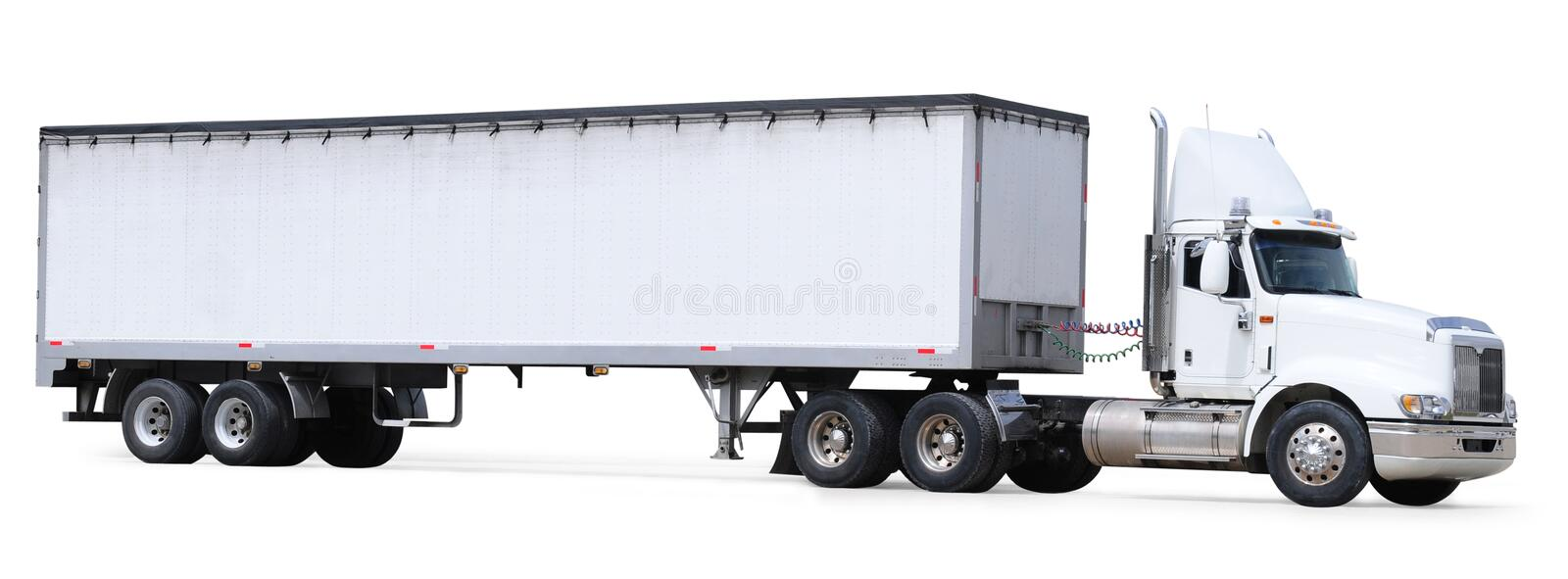 Truck. Isolated royalty free stock images