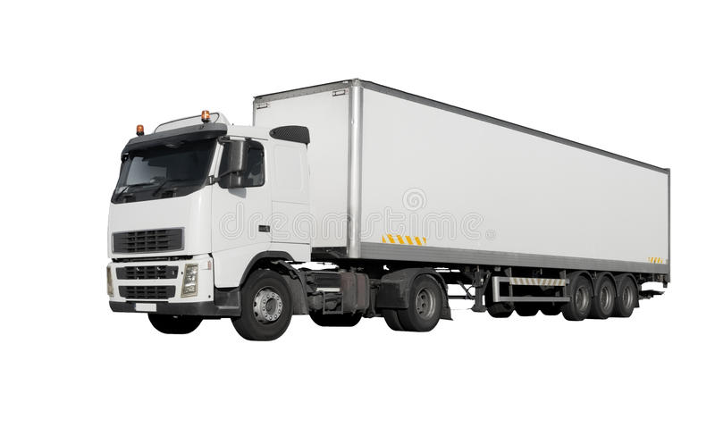 Truck isolated stock photos