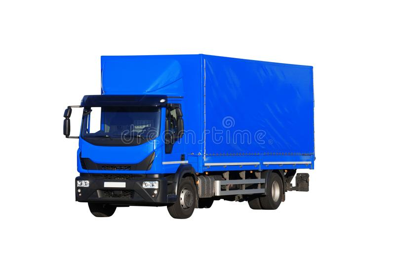 Truck isolated on white background royalty free stock photo