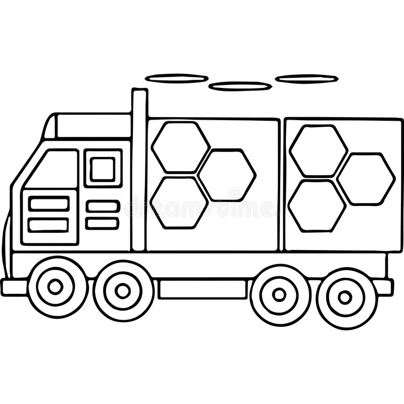 Truck kids coloring pages geometrical figures royalty free illustration