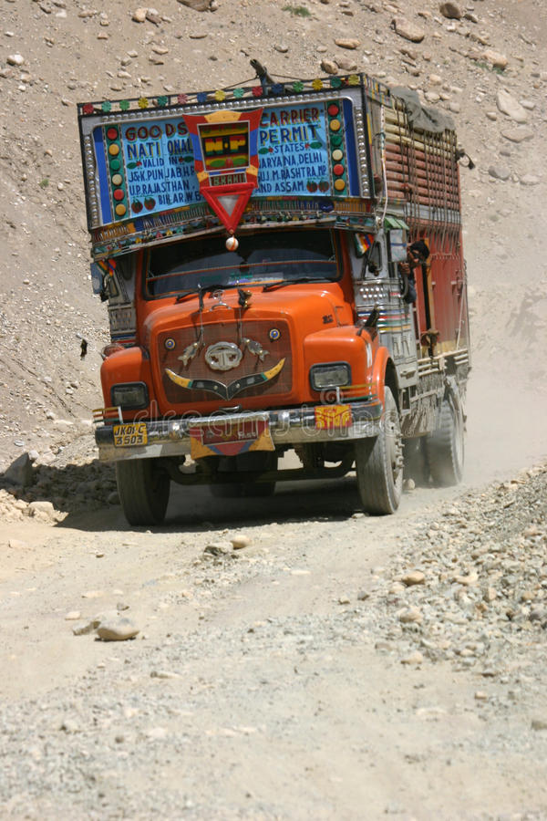 Download Truck on Ladakh tracks editorial photography. Image of load - 11508052