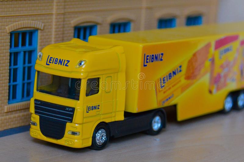 Truck. Leibniz truck toys stock photos