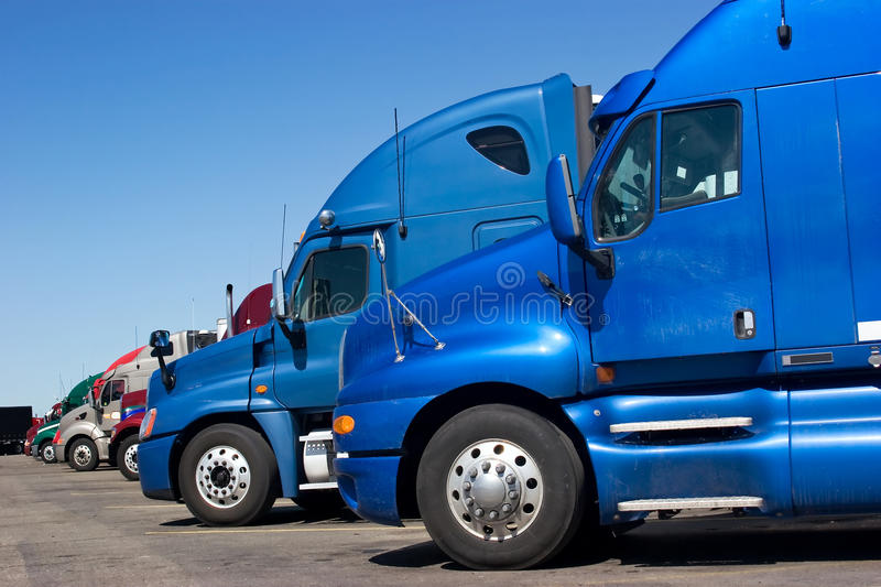 Download Truck Line stock image. Image of parking, convoy, container - 19434511