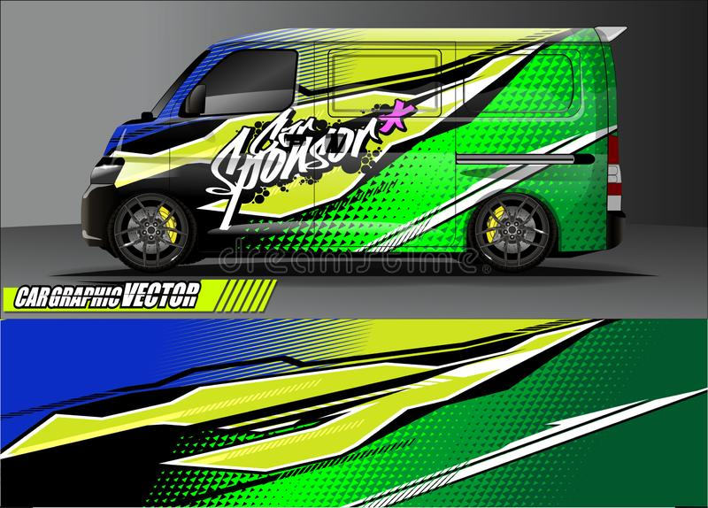 Truck livery graphic vector. abstract grunge background design for vehicle vinyl wrap and car branding stock images