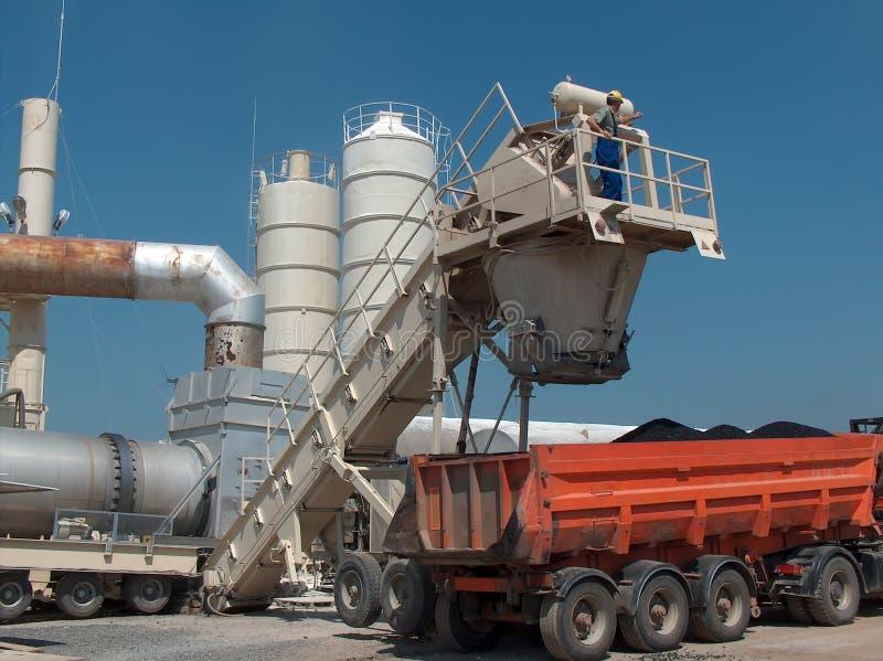Truck loads bitumen stock photography