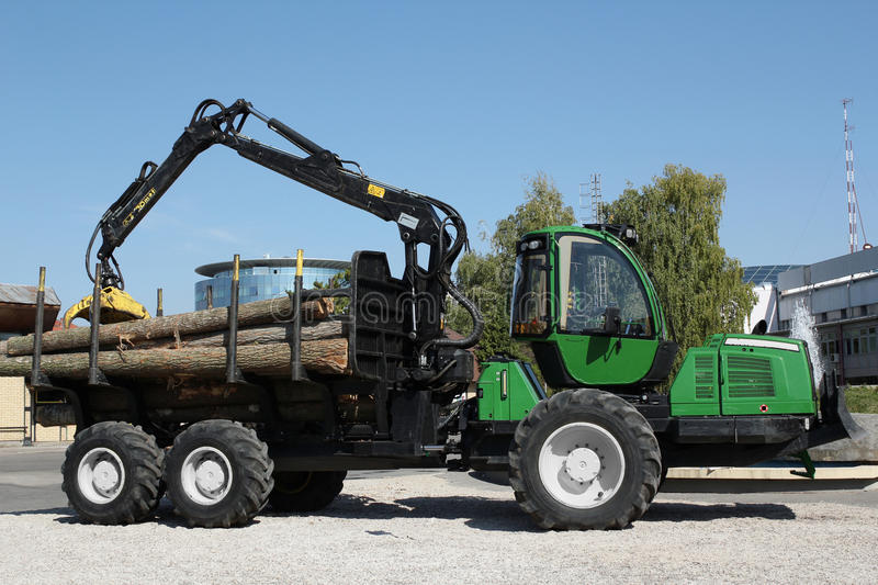 Truck with log stock photos
