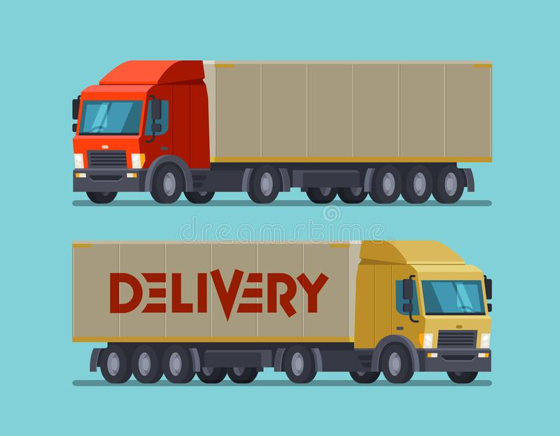 Truck, lorry symbol or icon. Delivery, shipping, shipment concept. Cartoon vector illustration. Truck, lorry symbol or icon. Delivery, shipping, shipment concept royalty free illustration