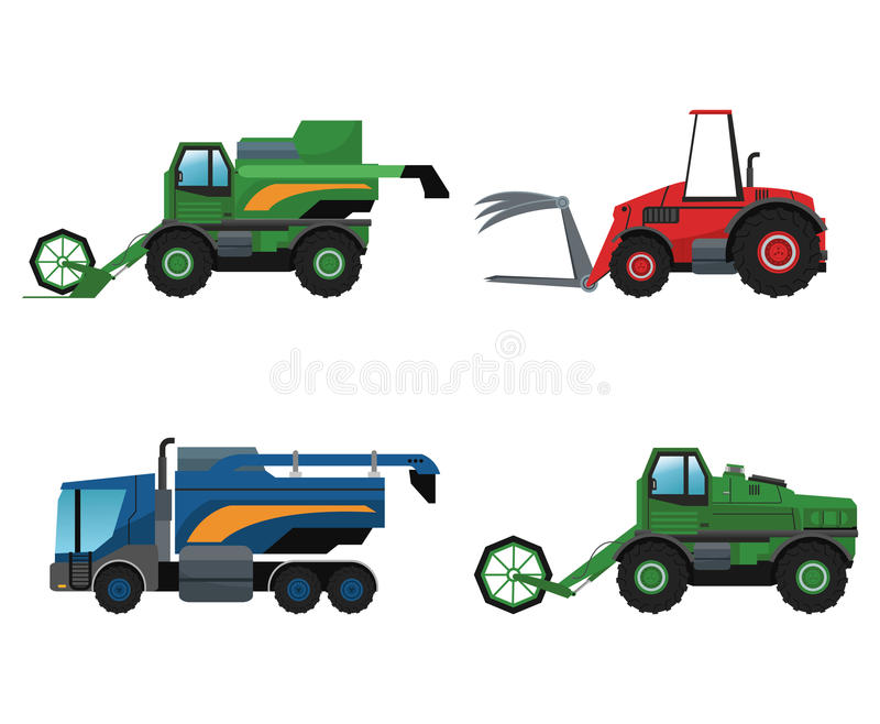 Truck machine and farm lifestyle design royalty free illustration