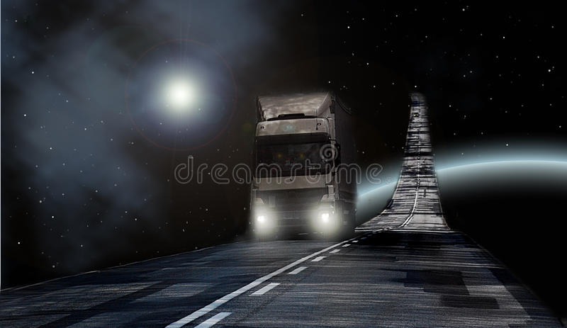 Download Truck on Milky way stock image. Image of funny, space - 13884385