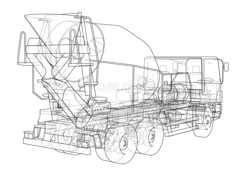 Truck mixer sketch 3d illustration stock illustration download truck mixer sketch 3d illustration stock illustration illustration of blend cement malvernweather Choice Image