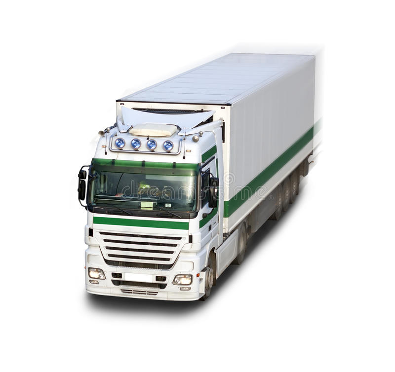 Download Truck in motion stock photo. Image of highway, commercial - 22613286