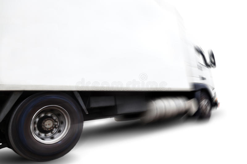 Truck and motion blur stock photography