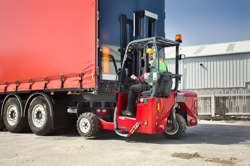 Truck Mounted Forklift royalty free stock images
