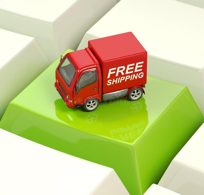 Free Truck On Keyboard Key Stock Photography - 29981522