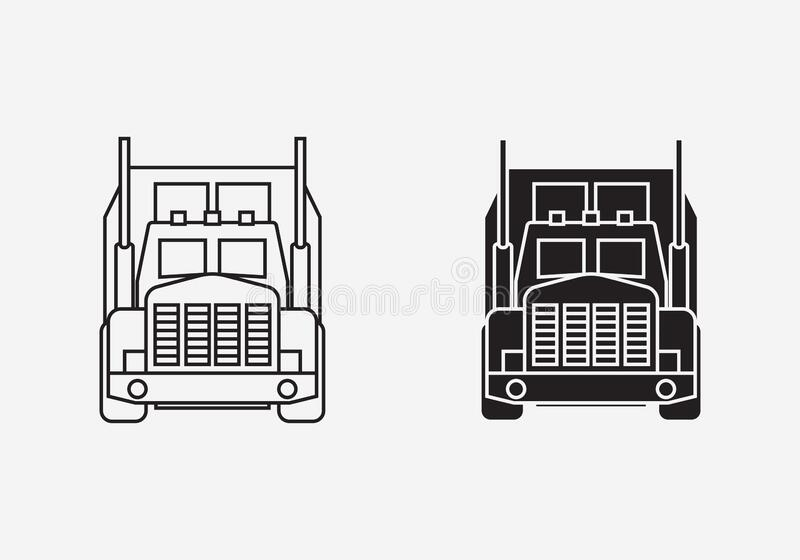 Truck outline and silhouette royalty free stock photo