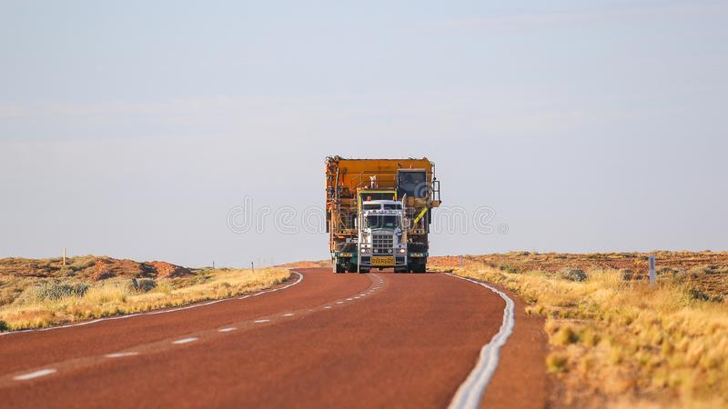 Truck Oversize load carries oversized cargo royalty free stock photography