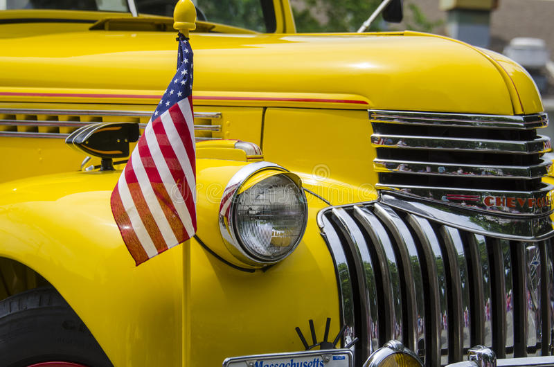 Truck in parade royalty free stock photos